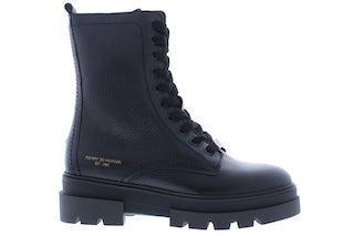 Tommy Hilfiger Monochromatic lace up boot BDS black Damesschoenen Booties