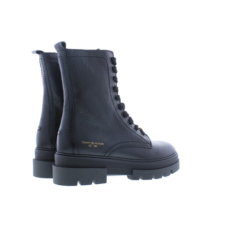 Tommy Hilfiger Monochromatic lace up boot BDS black Booties Booties