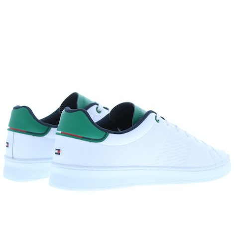 Tommy Hilfiger Retro tennis cupsole oK7 white green Sneakers Sneakers