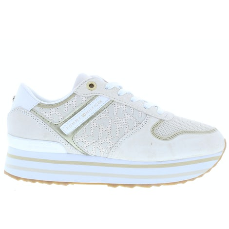 Tommy Hilfiger TH metallic flatform AF2 white dove Sneakers Sneakers