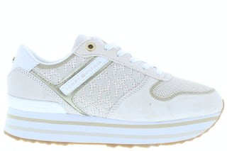 Tommy Hilfiger TH metallic flatform AF2 white dove Damesschoenen Sneakers