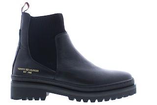 Tommy Hilfiger TH outdoor knit boot BDS black Damesschoenen Booties