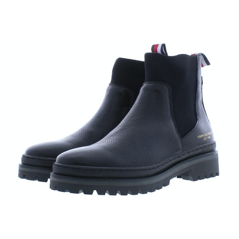 Tommy Hilfiger TH outdoor knit boot BDS black Booties Booties