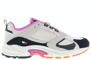 Tommy Hilfiger Archive textile mix runner ABI smooth Stone Damesschoenen Sneakers