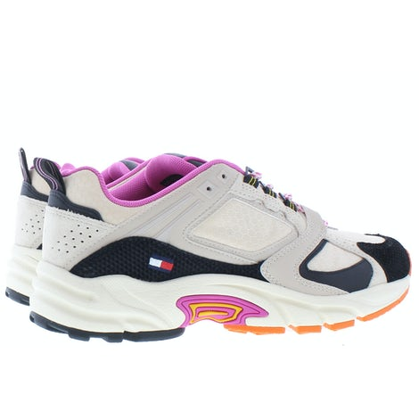 Tommy Hilfiger Archive textile mix runner ABI smooth Stone Sneakers Sneakers