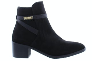 Tommy Hill Block branding suede mid boot BDS black 160101479 01