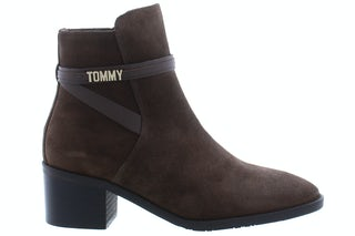 Tommy Hill Block branding suede mid boot GT6 cocoa 160210158 01