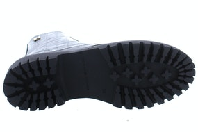 Tommy Hill Croco look flat boot BDS black Damesschoenen Booties