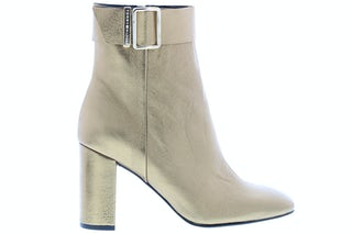 Tommy Hilfiger Metallic square toe boot 0LJ dark gold Damesschoenen Enkellaarsjes