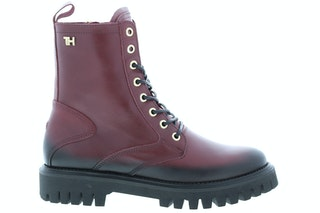 Tommy Hill Shaded leather TH bootie VLP deep rouge 170630010 01
