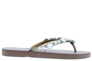 Uzurii Pearl taupe Damesschoenen Slippers