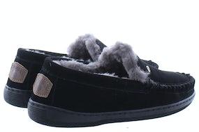Warmbat Grizzly black Herenschoenen Pantoffels