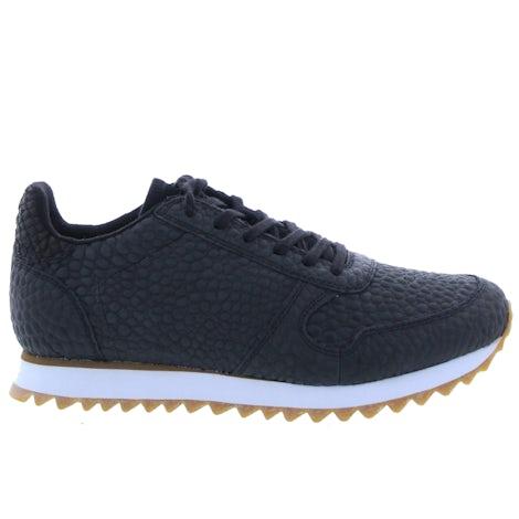 Woden Ydun croco II 020 black Damesschoenen Sneakers