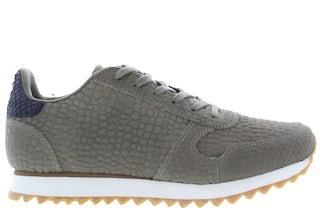 Woden Ydun croco II 295 dark olive Damesschoenen Sneakers