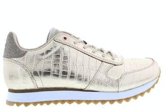 Woden Ydun croco shiny 400 champagne Damesschoenen Sneakers