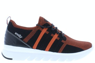 Wolky Mako 3-D knitting 0212590 999 brick Damesschoenen Sneakers