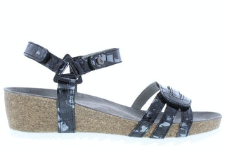 Wolky Pacific croco 0823569 210 anthracite Damesschoenen Sandalen