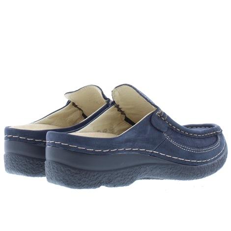 Wolky Roll slide 0620213 800 blue Slippers Slippers