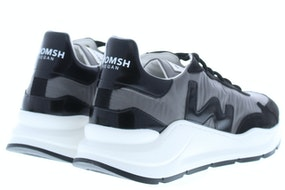 Womsh Vegan wave 202821 grey black Damesschoenen Sneakers