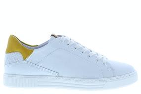 AQA 7163 white oker Damesschoenen Sneakers