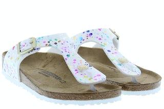 Birkenstock Gizeh 1019755 confetti white Meisjesschoenen Sandalen en slippers