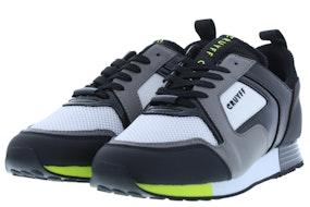 Cruyff Lusso dk grey fluo yel Herenschoenen Sneakers