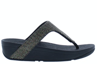 Fit flop lottie glitter stripe 090 all black 185100272 01