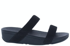 Fit Flop Lottie glitzy slide 001 black Damesschoenen Slippers
