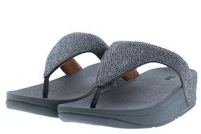Fit Flop Lottie shimmercrystal 054 pewter Damesschoenen Slippers