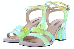 Floris 85943/00 green metallic Damesschoenen Sandalen