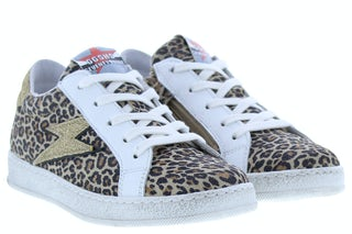 Giga G3463 leopardino sand Meisjesschoenen Sneakers