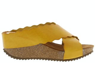 HEE 20012 mustard Damesschoenen Slippers