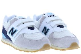 New Balance 574 SOU white navy Jongensschoenen Klittebandschoenen