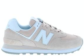 New Balance WL574 OAB pink white Damesschoenen Sneakers