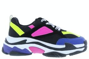 Nikkie chunky sneaker black flu lime g Damesschoenen Sneakers
