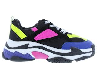 Nikkie chunky sneaker black flu lime g 141800025 01