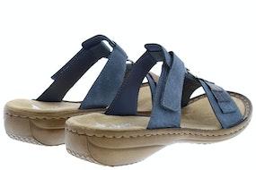 Rieker 60884 14 jeans Damesschoenen Slippers