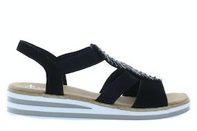 Rieker V02C1 00 schwarz Damesschoenen Sandalen