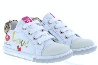ShoesMe EF20S008-A white Meisjesschoenen Veterschoenen