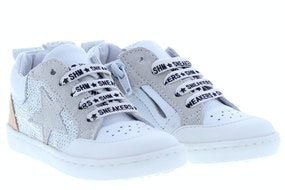 ShoesMe UR20S018-I white Meisjesschoenen Veterschoenen