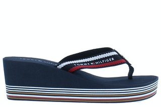 Tommy hilfiger stripy wedge beach sandal 0kp rwb 185810002 01