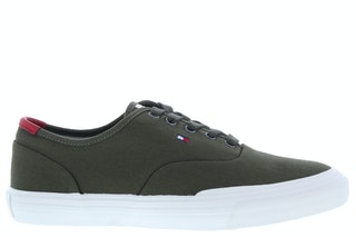 Tommy hill core oxford twill sneaker rbn army green 242500074 01