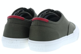 Tommy Hill Core oxford twill sneaker rbn army green Herenschoenen Sneakers
