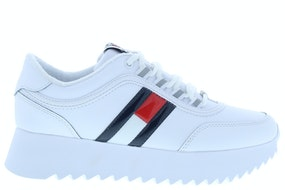 Tommy Hill High cleated flag sneaker YBS white Damesschoenen Sneakers