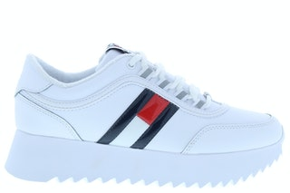 Tommy hill high cleated flag sneaker ybs white 141000421 01