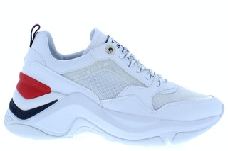 Tommy hill internal wedge sporty sneaker ybs white 141000427 01