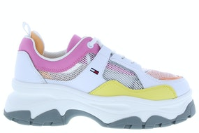 Tommy Hill Recycled mesh flatform shoe YBS white Damesschoenen Sneakers